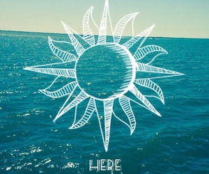 here comes the sun, quote, and sea image