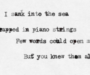sea, quote, and words image