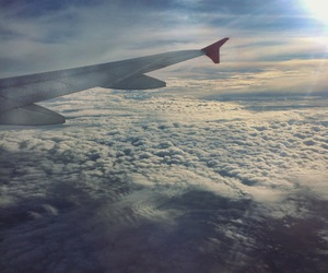 airplane, caio melo, and clouds image
