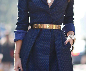 belt, navy, and dress image