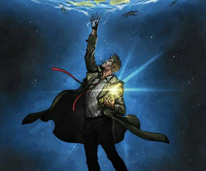 Constantine and dc comic image