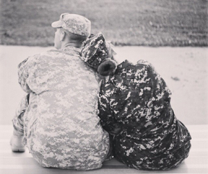 army, couple, and soldier image