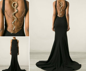 dress, snake, and robert cavalli image