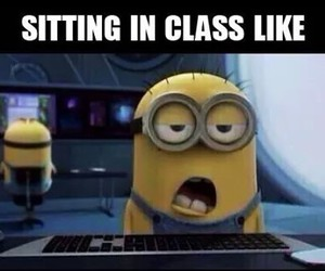 minions, school, and funny image
