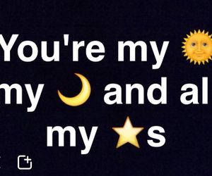 I Love You, moon, and stars image