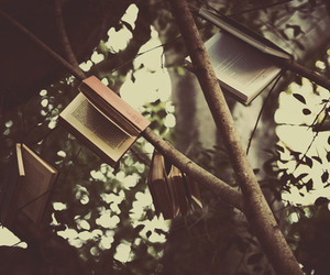 book, tree, and nature image