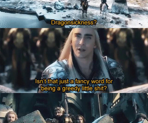 thranduil, the hobbit, and thorin image