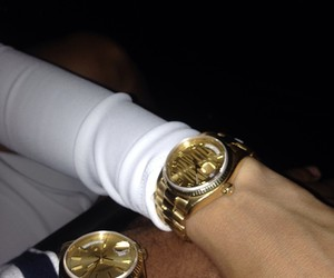 watch, couple, and gold image