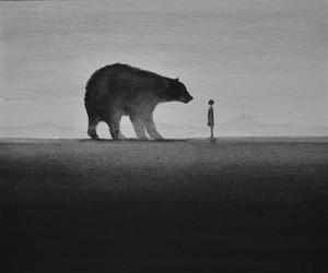 bear, art, and animal image