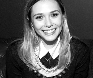 black and white, elizabeth olsen, and pretty image