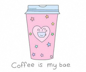 coffee, bae, and pink image