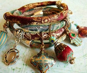 bracelet, boho, and hippie image