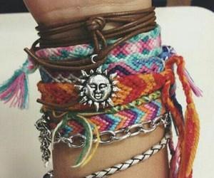 bracelet, sun, and hipster image