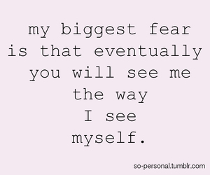 fear, quotes, and sad image