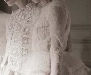 lace, Valentino, and white image