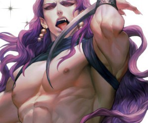 anime, purple hair, and sexy image