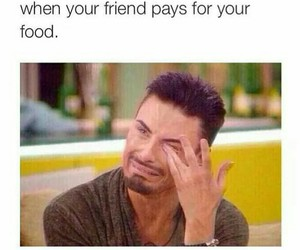 funny, food, and friends image