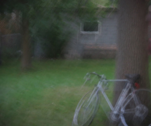 ad, backyard, and bike image