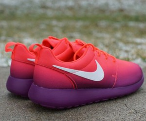 nike, ombre, and pink image