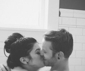 couple, kiss, and shower image