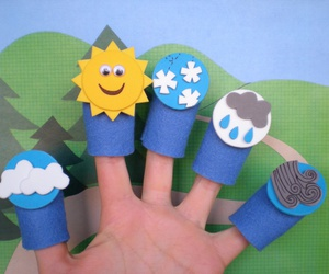cloud, finger puppets, and rain image