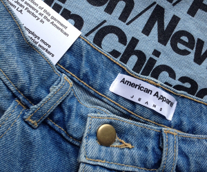american apparel, jeans, and blue image