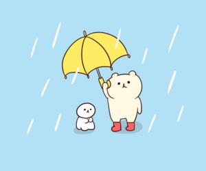 art, baby, and rain image