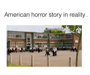funny, hate, and american horror story image