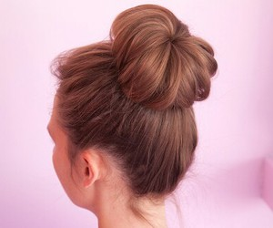 bun, hair, and styles image