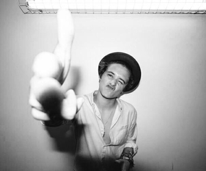 black & white, guitarist, and bradley simpson image