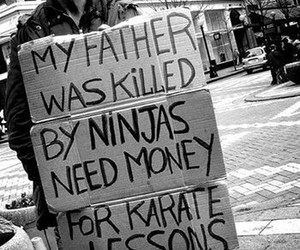 ninja, funny, and quote image