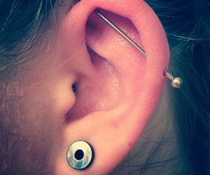 helix, industrial, and piercing image