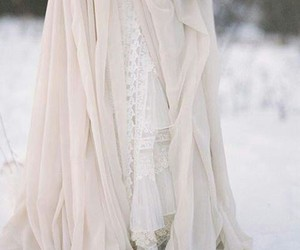 dress, white, and snow image