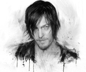 art, the walking dead, and daryl dixon image