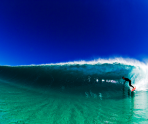 ocean, blue, and surf image