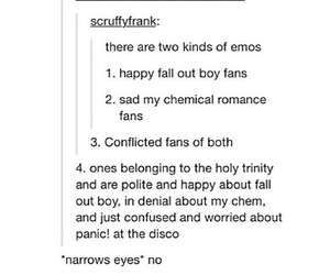 emo, fall out boy, and funny image