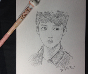 boy, sketch, and exo l image