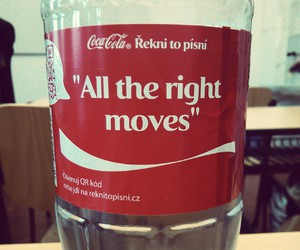 coke, onerepublic, and all the right moves image