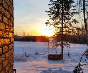 cold, finland, and morning image