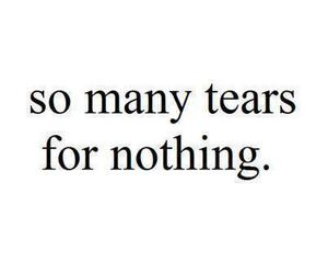 tears, quote, and nothing image