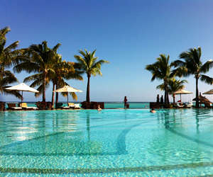 swimming pool and mauritius island image