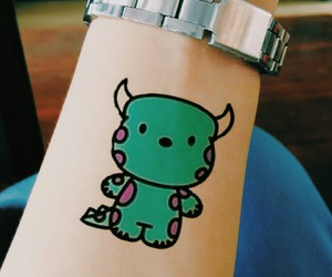hand, monster, and tatto image