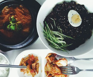 food, korean, and lunch image
