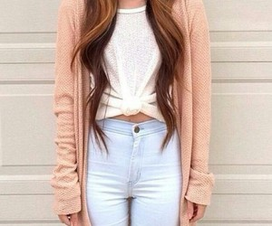 cardigan, fabulous, and hairstyle image