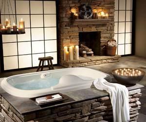 bathroom, luxury, and candle image