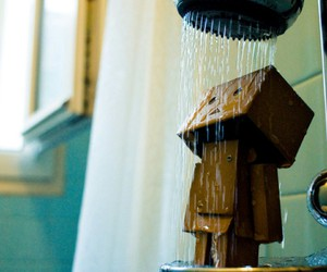 shower, danbo, and water image