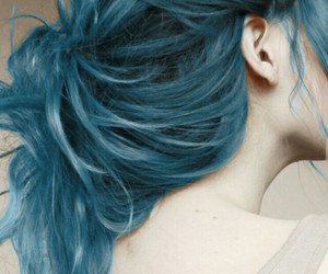 bluehair, girl, and grunge image