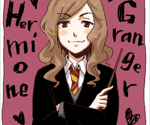 hermione granger, book, and hogwarts image