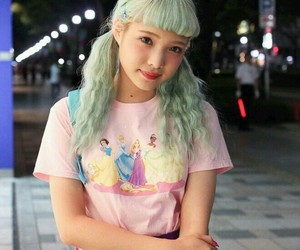 fashion, hair, and Harajuku image