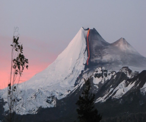 mountains, nature, and volcano image